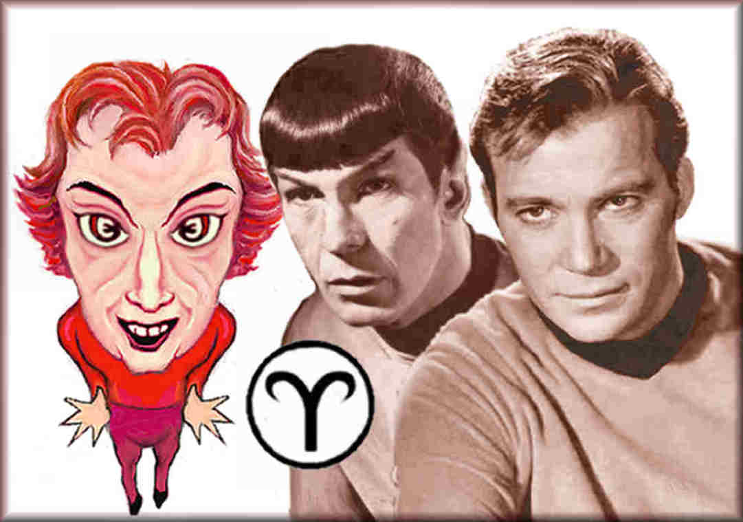 physical traits or Aries, Nimoy, Shatner