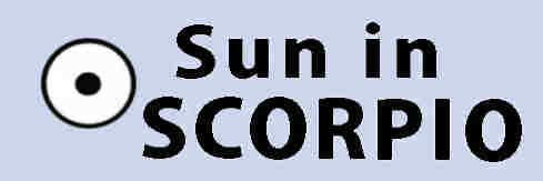 Sun in Scorpio